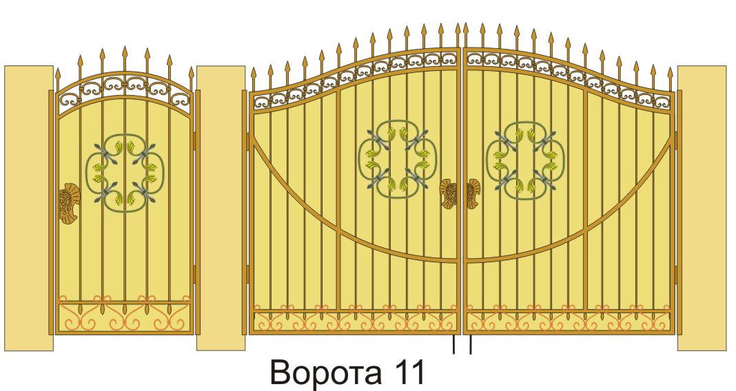 Кованые ворота своими руками доступное изящество