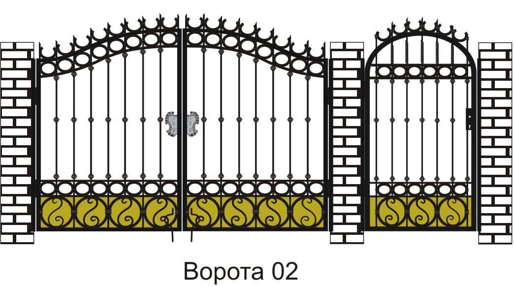 Своими руками узоры для ворот и калитки